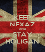 KEEP NEXAZ AND STAY HOLIGAN - Personalised Poster A4 size
