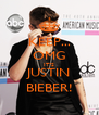 KEEP... OMG IT'S JUSTIN BIEBER! - Personalised Poster A4 size