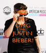 KEEP.. OMG IT'S JUSTIN BIEBER! - Personalised Poster A4 size