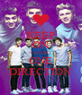 KEEP ON LOVING ONE DIRECTION - Personalised Poster A4 size