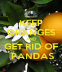 KEEP ORANGES AND GET RID OF  PANDAS - Personalised Poster A4 size
