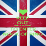 KEEP OUT AND IF U WANT TO ENTER NOCK OF RING - Personalised Poster A4 size