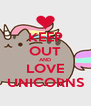 KEEP OUT AND LOVE UNICORNS - Personalised Poster A4 size