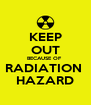 KEEP OUT BECAUSE OF  RADIATION  HAZARD - Personalised Poster A4 size