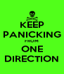 KEEP PANICKING FROM ONE DIRECTION - Personalised Poster A4 size