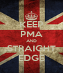 KEEP PMA AND STRAIGHT EDGE - Personalised Poster A4 size