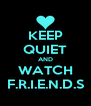 KEEP QUIET AND WATCH F.R.I.E.N.D.S - Personalised Poster A4 size