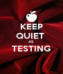 KEEP QUIET  AS TESTING  - Personalised Poster A4 size