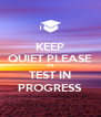 KEEP QUIET PLEASE AS TEST IN PROGRESS - Personalised Poster A4 size