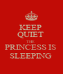 KEEP  QUIET  THE  PRINCESS IS  SLEEPING  - Personalised Poster A4 size
