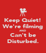 Keep Quiet! We're filming AND Can't be Disturbed. - Personalised Poster A4 size
