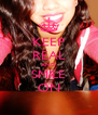 KEEP REAL AND SMILE ON - Personalised Poster A4 size