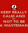 KEEP REALLY CALM AND TRY NOT TO BE A WASTEMAN - Personalised Poster A4 size