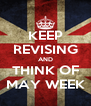 KEEP REVISING AND THINK OF MAY WEEK - Personalised Poster A4 size