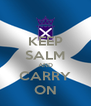 KEEP SALM AND CARRY ON - Personalised Poster A4 size