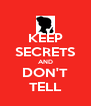 KEEP SECRETS AND DON'T TELL - Personalised Poster A4 size