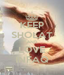 KEEP SHOLAT AND LOVE INFAQ - Personalised Poster A4 size