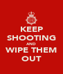 KEEP SHOOTING AND WIPE THEM OUT - Personalised Poster A4 size