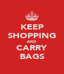 KEEP SHOPPING AND CARRY BAGS - Personalised Poster A4 size