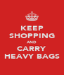 KEEP SHOPPING AND CARRY HEAVY BAGS - Personalised Poster A4 size