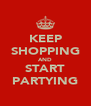 KEEP SHOPPING AND START PARTYING - Personalised Poster A4 size