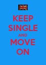KEEP SINGLE AND MOVE ON - Personalised Poster A4 size