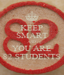 KEEP SMART AND YOU ARE 82 STUDENTS - Personalised Poster A4 size