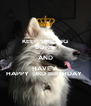 KEEP SMILING BORIS AND HAVE A HAPPY  3RD BIRTHDAY  - Personalised Poster A4 size