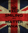 KEEP SMILING NO MATTER WHAT - Personalised Poster A4 size