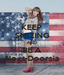 KEEP SMIZING AND BE A Next-Doorsia - Personalised Poster A4 size