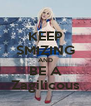 KEEP SMIZING AND BE A Zagilicous - Personalised Poster A4 size