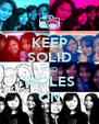 KEEP SOLID AND WOLES ON - Personalised Poster A4 size