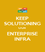 KEEP SOLUTIONING OUR ENTERPRISE INFRA - Personalised Poster A4 size