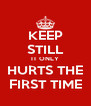KEEP STILL IT ONLY HURTS THE FIRST TIME - Personalised Poster A4 size