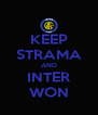 KEEP STRAMA AND INTER WON - Personalised Poster A4 size