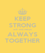 KEEP STRONG acil and nesya ALWAYS TOGETHER - Personalised Poster A4 size