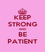 KEEP STRONG AND BE PATIENT - Personalised Poster A4 size