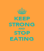 KEEP STRONG AND STOP EATING - Personalised Poster A4 size