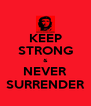 KEEP STRONG & NEVER SURRENDER - Personalised Poster A4 size