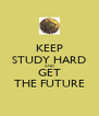 KEEP STUDY HARD AND GET THE FUTURE - Personalised Poster A4 size
