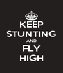 KEEP STUNTING AND FLY HIGH - Personalised Poster A4 size