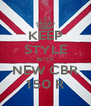 KEEP STYLE WITH NEW CBR 150 R - Personalised Poster A4 size