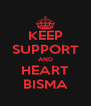 KEEP SUPPORT AND HEART BISMA - Personalised Poster A4 size