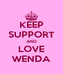 KEEP SUPPORT AND LOVE WENDA - Personalised Poster A4 size