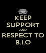 KEEP SUPPORT AND RESPECT TO B.I.O - Personalised Poster A4 size
