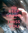 KEEP sweety AND I MISS YOU - Personalised Poster A4 size