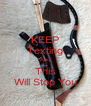 KEEP Texting And This Will Stop You - Personalised Poster A4 size