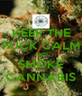 KEEP THE FUCK CALM AND SMOKE CANNABIS - Personalised Poster A4 size
