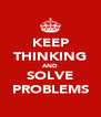 KEEP THINKING AND SOLVE PROBLEMS - Personalised Poster A4 size