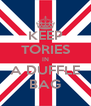 KEEP TORIES IN A DUFFLE BAG - Personalised Poster A4 size
